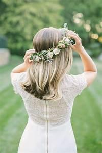 Couronne De Fleurs Mariée : 1001 photos pour trouver votre coiffure de mari e et les astuces savoir auparavant ~ Farleysfitness.com Idées de Décoration