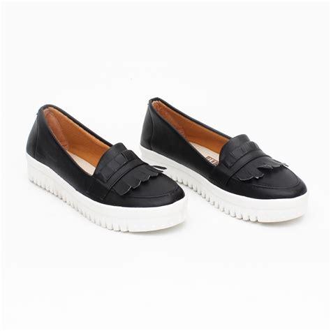 3 warna sepatu slip on wanita platform loafers elevenia