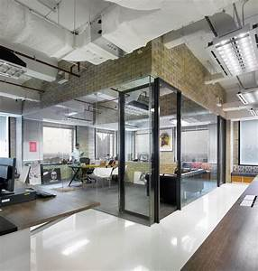 Tour the creative and collaborative office of bates 141 for Industrial style office