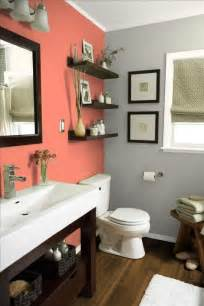 30 grey and coral home décor ideas digsdigs - Grey Bathrooms Decorating Ideas