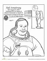 Armstrong Neil Coloring Worksheet Astronauts Scouts Famous Child Tiger Space Did Worksheets America Cub Medal Honor Education Maybe Grade Sheet sketch template