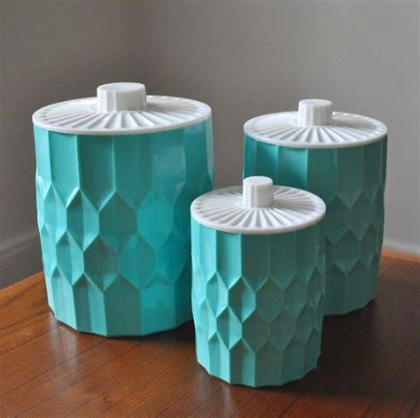 plastic kitchen canisters i these heres a set of 3 vintage plastic kitchen