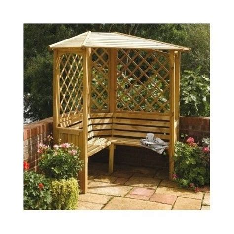 Garden Bench With Trellis by Wooden Garden Arbour 3 Seater Outdoor Bench Seat Trellis