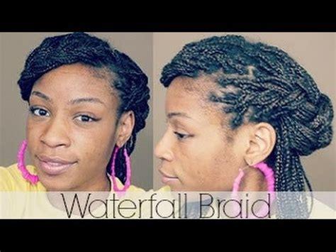 box braids hairstyles waterfall inspired braid youtube