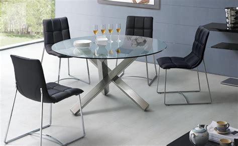 table a manger ronde en verre table salle 224 manger moderne 30 id 233 es originales