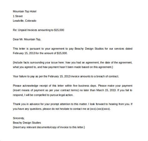 compensation letter  damages planner template