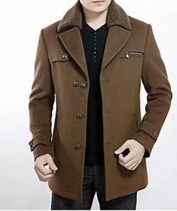 mocha brown mens luxury wool pea coat by needpeacoatcom With brown pea coat mens