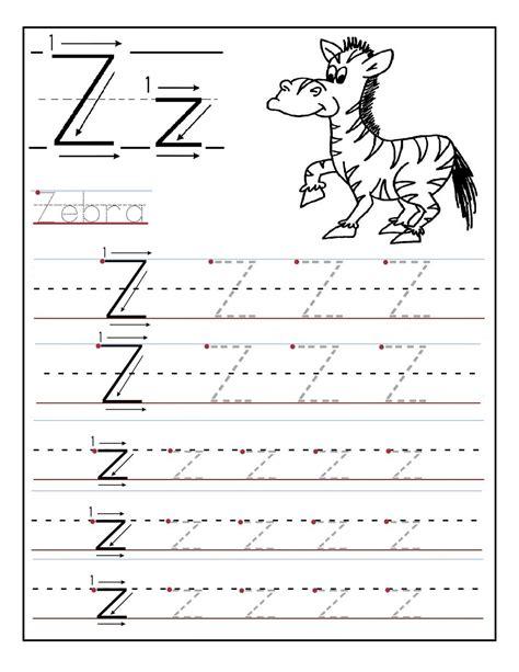 Kindergarten Z Worksheets For Fun Learning  Loving Printable