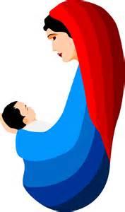 Mary and Jesus Nativity Clip Art