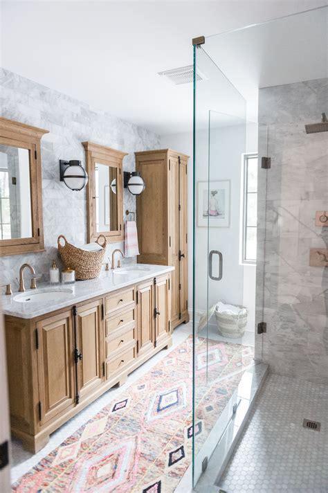 Modern Boho Bathroom Renovation Reveal with Rugs USA's