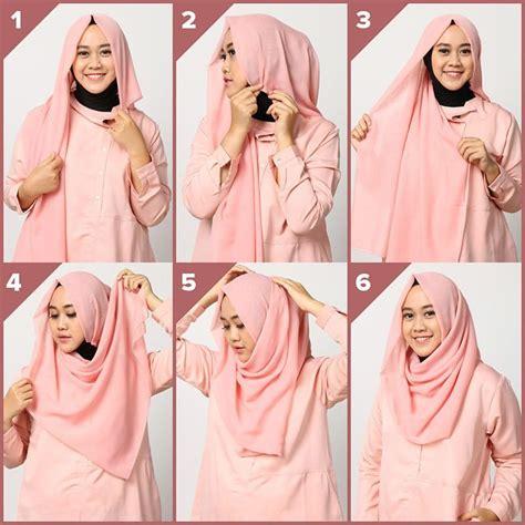 tutorial hijab simple   gaya hijab model  pesta