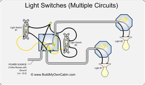 wiring switches to lights diagram cabin how to s