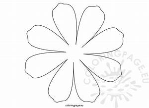 Printable Flower Daisy 8 petal | Coloring Page