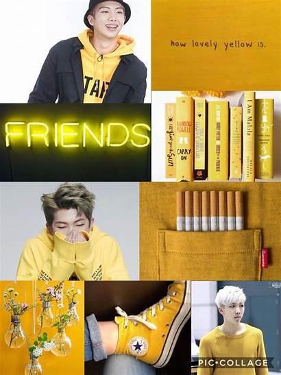 Bts Yellow Aesthetic Namjoon Edit Aesthetics Happy