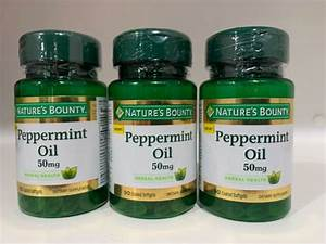 Nature U0026 39 S Bounty Peppermint Oil Pills 50mg 90 Softgels For Sale Online