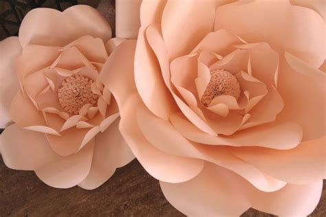 blush paper flower wedding flower backdrop party