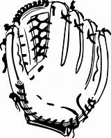 Coloring Gloves Pages Glove Baseball sketch template
