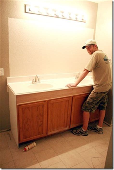 remodelaholic how to raise up a vanity