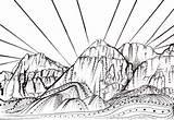 Coloring Rock Canyon Sunset Drawing Climbing Vegas Las Climber Designlooter Mountains 94kb 393px Nevada Tree Drawings Mountain sketch template
