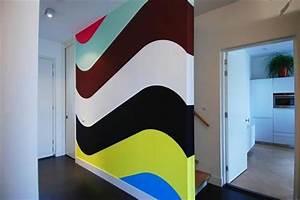 peinture murale pour une ambiance dinterieur gaie With couleur peinture mur 5 sticker art tache de peinture stickers art et design