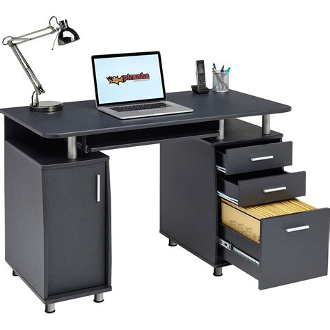 bureau laptop computer desk with storage a4 filing drawer home office
