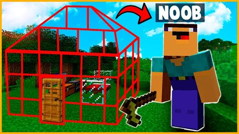 noob  casa  invisible minecraft minecraft troll