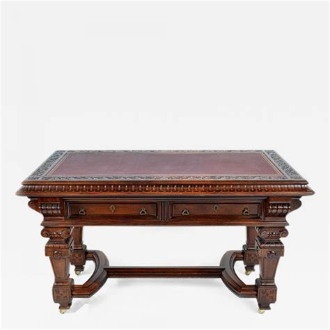 interior design houston tx renaissance revival library table writing desk