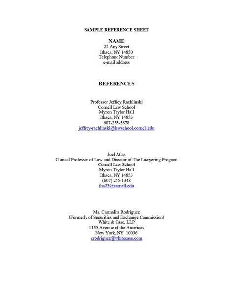 Resume Reference Template by 40 Professional Reference Page Sheet Templates ᐅ