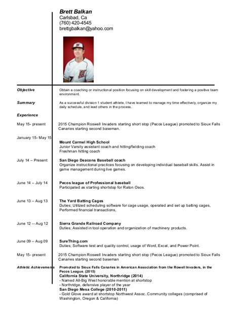 brett coaching resume
