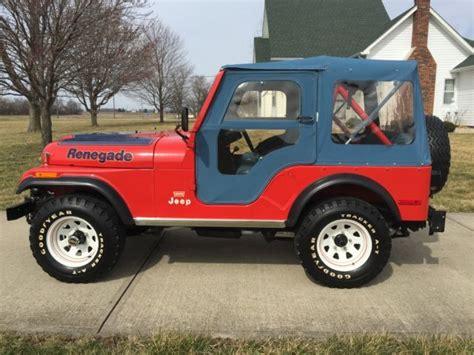 jeep amc 1977 amc jeep cj 5 cj 5 cj7 renegade 6 419 miles