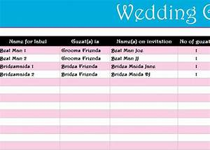 Free Inventory Templates Wedding Guest List Register My Excel Templates