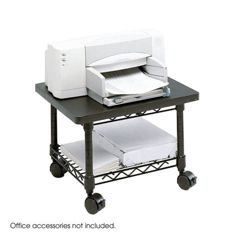 under desk printer cart under desk printer fax stand in black 5206bl