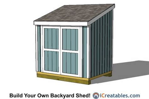 6x8 Storage Shed Home Depot by 6x8 Lean To Shed Plans With 6 Doors 6x8 Shed