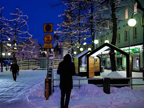 moksa street furniture installed  lahti finland