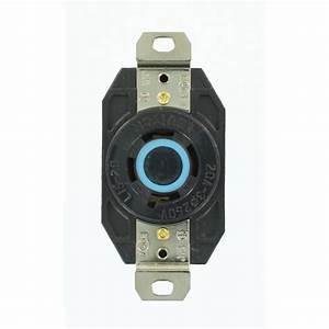 Prise 20 Ampere : eaton 50 amp 250 volt 6 50 industrial power receptacle ~ Premium-room.com Idées de Décoration