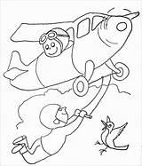 Acrobat Coloring Plane Coloringbay sketch template