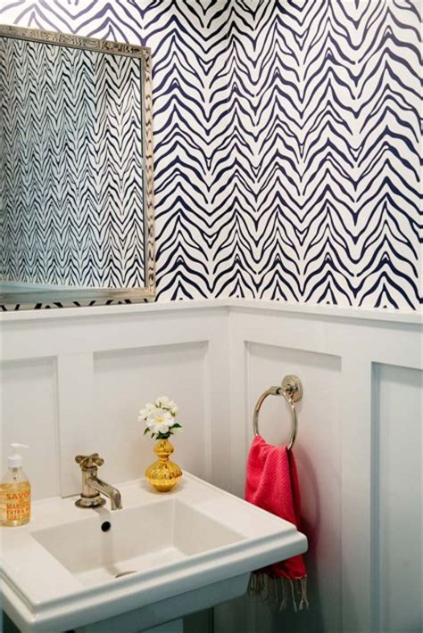 Yellow and Gray Powder Room with Charcoal Gray Board and