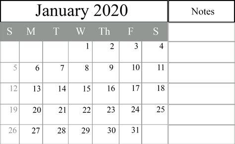 january  printable calendar   excel word