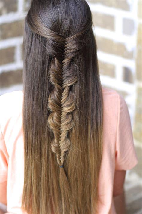 The No Band Bubble Fishtail Braid   Cute Girls Hairstyles