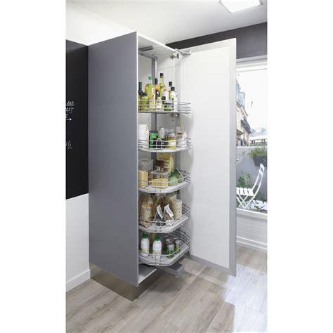 armoire colonne cuisine rangement ouvrant colonne 5 paniers pour colonne l 60 cm