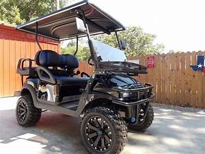 Black  U0026 Blue Phantom Xt Club Car Precedent 48v Electric Golf Cart
