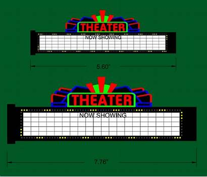 Marquee Theater Sign Animated Clipart Scale Signs