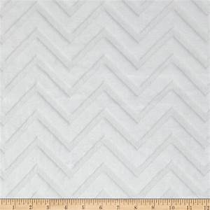 Shannon Minky Embossed Chevron Cuddle White - Discount ...