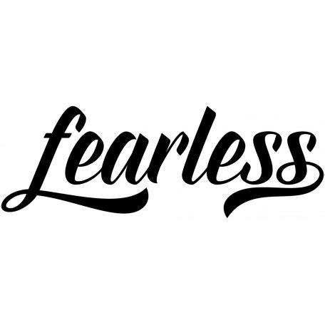 bold word art fearless graphic  marisa lerin pixel
