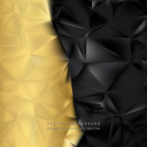 Abstract Black Golden by Abstract Black Gold Low Poly Background