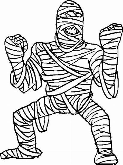Mummy Coloring Pages Halloween Mummies Printable Medium