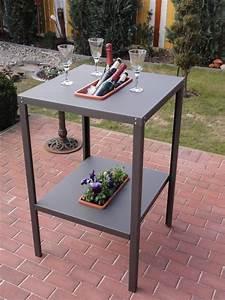 partytisch stehtisch metall mit kuhl oder blumeneinsatz With französischer balkon mit garten stehtisch