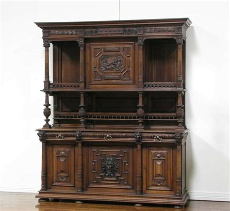 Large Buffet Cabinet by 1106077 Large Antique Renaissance Carved Buffet