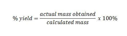 Moles  Percentage Purity And Yield  John Vagabond's Physics And Chemistry Blog