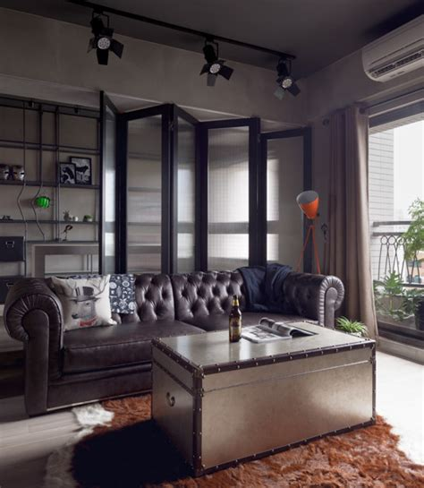 perfect balance achieved   industrial bachelor pad